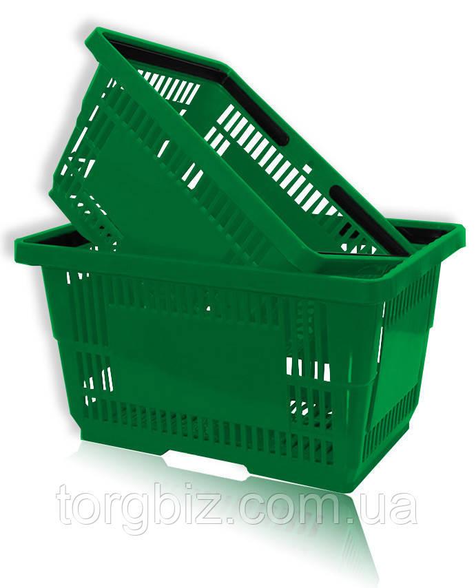 Купівельна корзина пластикова зелена та ін.