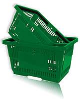 Покупательская корзина пластиковая зеленая и др.