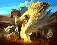 Картина по номерам 40х50см Babylon Turbo Девушка и Пегас