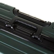 Чемодан OUPAI малый  40х62х24 пластик ABS алюминиевый каркас, зелёный кс1106-1зелм, фото 2