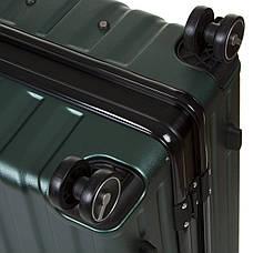 Чемодан OUPAI малый  40х62х24 пластик ABS алюминиевый каркас, зелёный кс1106-1зелм, фото 3