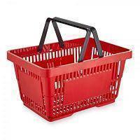 Корзина для покупателей красная, фото 1