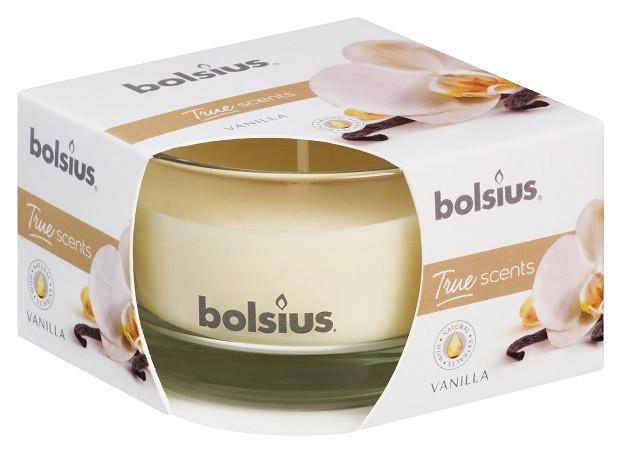 Свеча ароматическая в стекле ваниль Bolsius (35742)