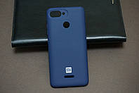 Чехол бампер силиконовый Xiaomi Redmi 6 Ксиоми Сяоми цвет синий (Blue) Soft-touch