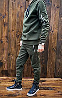 Костюм мужской из трехнитки на флисе с капюшоном (К29424), фото 1