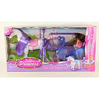 SALE Карета с лошадкой и куклой в коробке