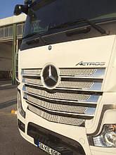 Накладка на решетку Mercedes Actros (Актрос), нерж, 11 частей.