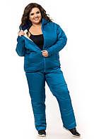 Женский спортивный костюм на зиму Большого Размера плащевка на овчинке пр-во Украина  F925HG