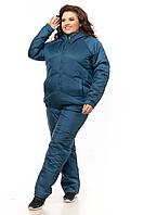 Женский зимний спортивный костюм Батал плащевка на овчинке пр-во Украина  F925HG