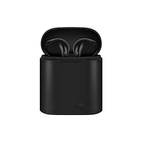 Беспроводные блютуз наушники i7 Mini TWS с боксом для зарядки Black