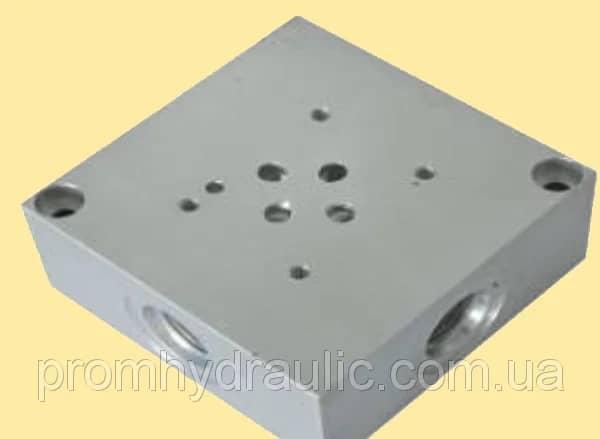 Плита переходная монтажная с клапаном для распределителя Ду6 (ВЕ6, РХ06, 4WE6) на 2шт