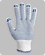 Перчатки рабочие с ПВХ точкой,  арт.8610, (6 нитей, вес-80г.) плотные, фото 1