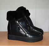 Сникерсы  зимние женские черные 36,41 р арт 6171-1 Purlina., фото 2