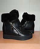 Сникерсы  зимние женские черные 36,41 р арт 6171-1 Purlina., фото 3