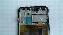 Дисплей с сенсором Samsung M205 Galaxy M20 чёрный,  GH82-18682A, оригинал, с рамкой!, фото 3