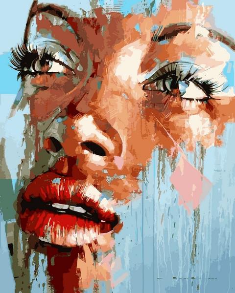 Картина по номерам на холсте 40х50см Яркий портрет