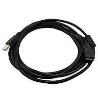 Кабель USB удлинитель устройств 3м Black