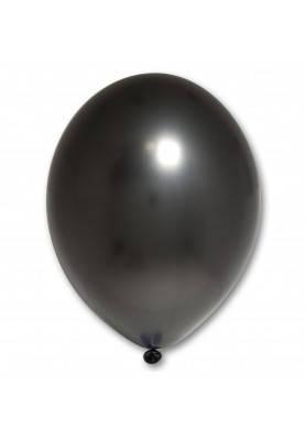 Повітряні кулі чорні металік 30 см BelBal Бельгія 5 шт