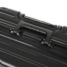 Чемодан большой алюминиевый каркас чёрный OUPAI 46х72х29 пластик ABS   кс1106-1чб, фото 3