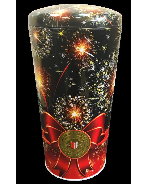 Подарочный чай на Новый Год Челтон Ваза Салют черный листовой OPA 100 г в жестяной банке