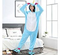 Пижама Кигуруми Единорог Голубой (S)