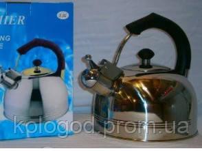 Чайник Газовый Со Свистком Из Нержавеющей Стали Premier PR-12 Обьем 3 Л