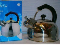 Чайник Газовый Со Свистком Из Нержавеющей Стали Premier PR-12 Обьем 3 Л, фото 1