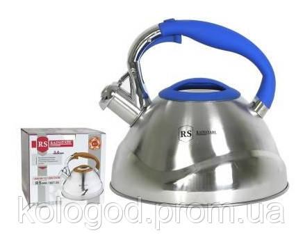 Чайник Газовый Со Свистком Из Нержавеющей Стали Rainstahl RS-7641-30 Обьем 3 Л Цвет В Ассортименте