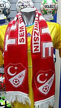 Шарф фанатский вязанный с символикой сборной Турции
