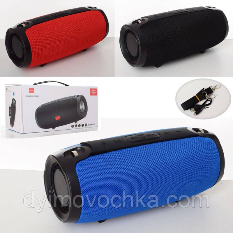 Портативная музыкальная колонка MK 3804-2, аккумулятор, Bluetooth, FM, USB, микс цветов