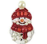 """Набор для изготовления броши Crystal Art """"Снеговик"""" БП-247"""