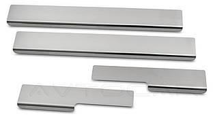 Накладки на пороги RENAULT SCENIC III с 2009-  комплект 4 шт. (NataNiko Standart)