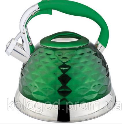 Чайник Газовый Со Свистком Цветной Rainstahl RS 7634-27 Многослойное Дно Обьем 2.7 Л Цвета В Ассортименте