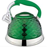 Чайник Газовый Со Свистком Цветной Rainstahl RS 7634-27 Многослойное Дно Обьем 2.7 Л Цвета В Ассортименте, фото 1