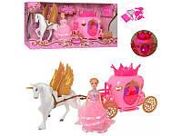 Игровой набор карета с лошадью, куклой и аксессуарами 2204D