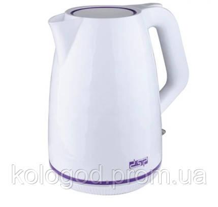 Чайник Электрический Пластиковый DSP KK-1015 Обьем 1,7 Л