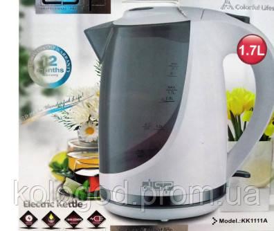 Чайник Электрический Пластиковый DSP KK1111 A Обьем 1,7 Л