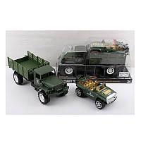 Набор с транспортом M0626TP, инер-я, военная машина 2шт(27см,16см)