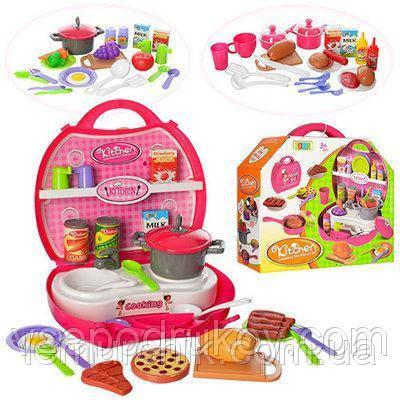 Кухня с набором продуктов в чемоданчике 8336