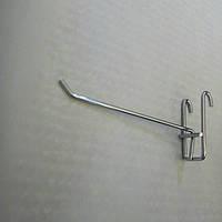 Крючок хромированый на сетку 15см (толстый)