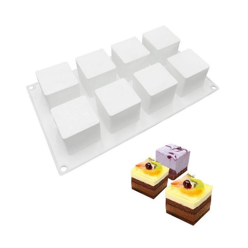 Силиконовая форма для десертов Cube 8 шт