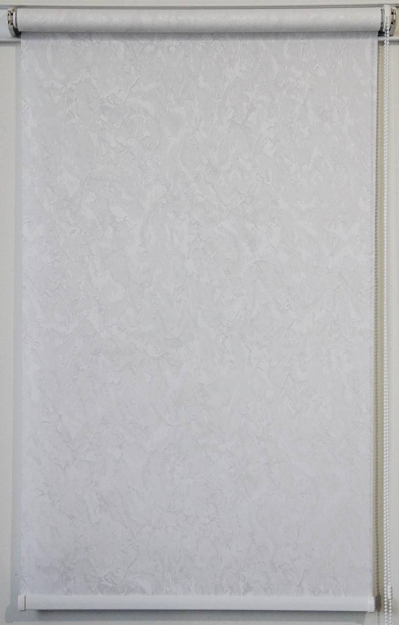 Готовые рулонные шторы 575*1500 Ткань Miracle (миракл) Белый 01