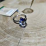 Кільце срібне з кристалами Swarovski, р16-18,5, фото 2
