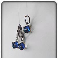Комплект серебряный с кристалламиSwarovski