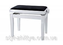 Банкетка для піаніно з регульованою висотою. Кольори в асортименті Білий глянець