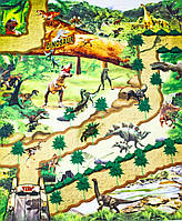 Коврик для детей с динозаврами,занимательная игра с фигурками и игрушками, модель 019A-15C