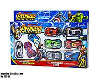 Набор машинок Мстители, для развивающей игры мальчикам,модель 757-18, в коробке с разноцветными машинками