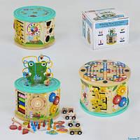 """Деревянніе развивающие игрушки """"Бизикуб,Бизиборд"""" с жабкой"""
