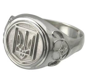 Серебряный перстень Герб Украины.