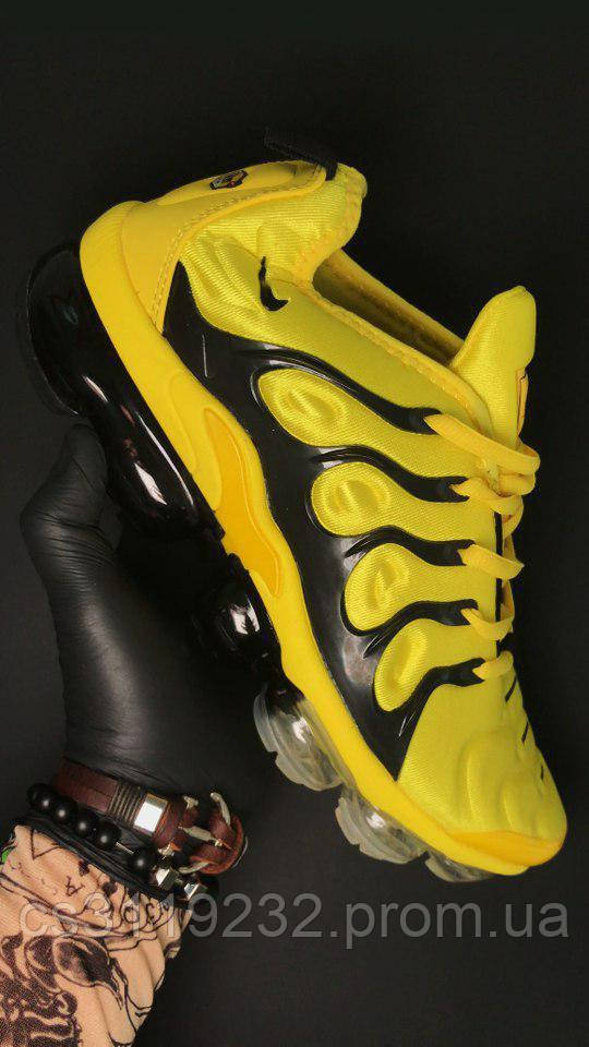 Мужские кроссовки Nike VaporMax TN Yellow Black (желтый)